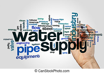 Water supply word cloud concept