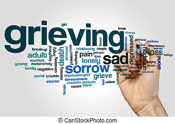 Grieving word cloud concept