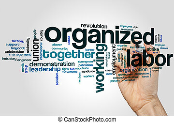 Organized labor word cloud concept
