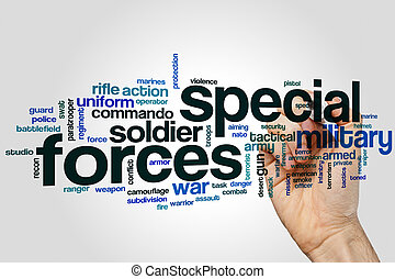 Special forces word cloud concept