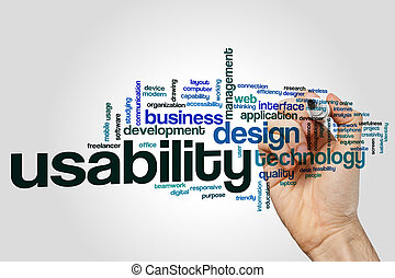 Usability word cloud concept