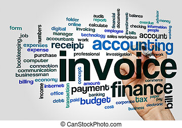 Invoice word cloud concept