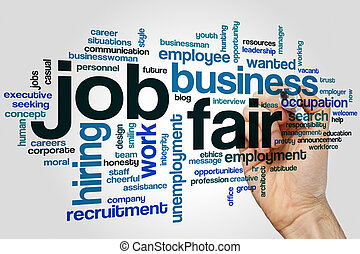 Job fair word cloud concept