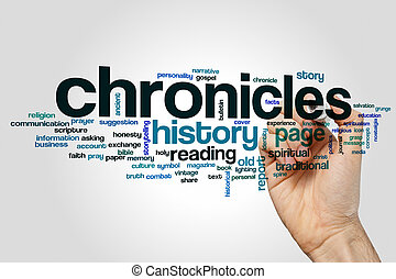 Chronicles word cloud concept