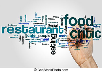 Food critic word cloud concept
