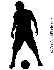 Player with ball
