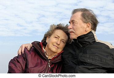 Senior copule - Senior couple in love