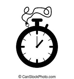 silhouette black of stopwatch graphic vector illustration