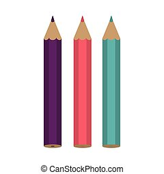 Set of colored pencils icon
