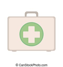 Kit first aid in box icon