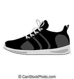 black Fitness sneakers design icon