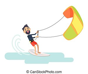 Athlete Takes Part at Kite Surfing Spain Festival - Athlete...