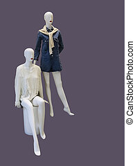 Two female mannequins.