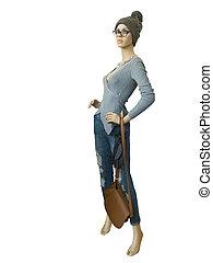 Full-length female mannequin. - Full-length female mannequin...