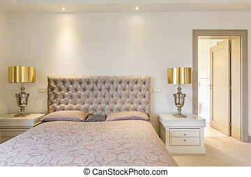 Elegant master bedroom with bed