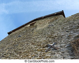 Abstract view of a barn