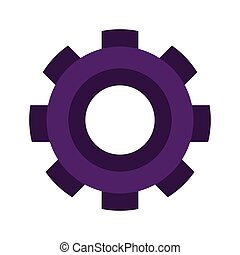 purple silhouette gear wheel icon vector illustration
