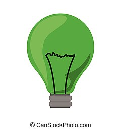 green light bulb icon with filaments