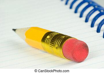 kort, blyertspenna