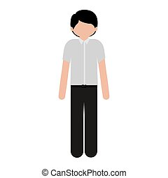 caucasian man young with casual suit vector illustration