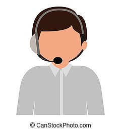male customer service silhouette icon