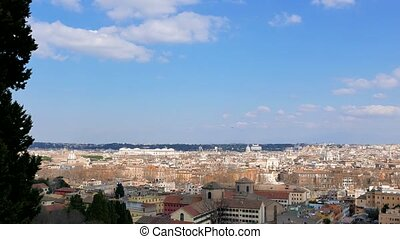 Panorama of Rome. View from Gianikolo. Rome, Italy