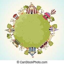 Vectors Illustration of Circus tent and ticket booth illustration ...
