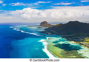 Aerial view of Le Morn Brabantl. Mauritius