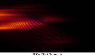 Streaks and wire in darkness and red loop