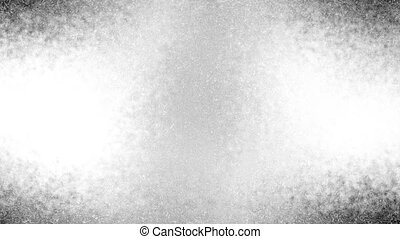 Black and white animated texture microscopic