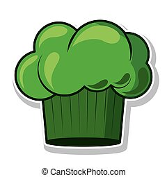 green silhouette with chefs hat vector illustration