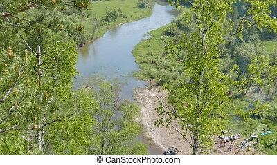 River Valley of Serga. SVERDLOVSK REGION, Russia. UltraHD...