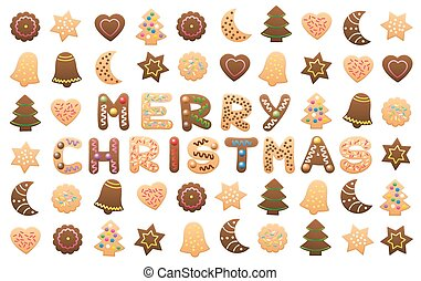 Merry Christmas Cookies Wishes - MERRY CHRISTMAS - written...