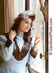 Lady in style - Vintage portrait of a victorian lady...