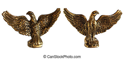Bronze statuette of Eagle - Antique bronze statuette of...