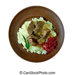 Sauteed reindeer venison steak - Sauteed reindeer venison...