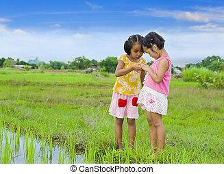 two cute asian girls