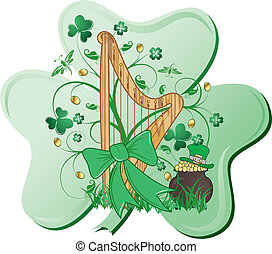Abstract St Patricks - St Patricks abstract design with...