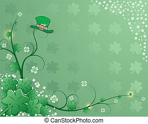 St Patricks Background - St Patricks background with clover,...