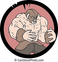 angry muscle barbarian - draw of angry muscle barbarian