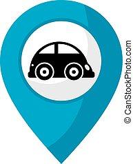 car zone - creative design of car zone icon