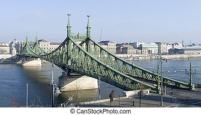 Budapest, the Chain Bridge and the Danube