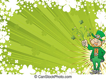 St Patricks Day Background - St Patricks Day frame with...