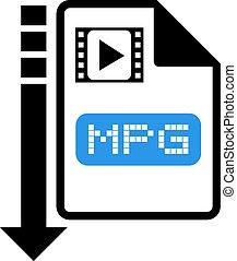 download mpg symbol - design of download mpg symbol