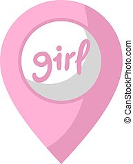 girl zone icon - design of girl zone icon