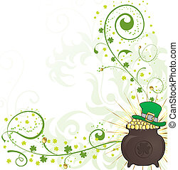 St Patricks Day Background - St Patricks Day floral frame...