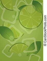 Mojito Poster. Fresh mojito with lime and green mint leaves...