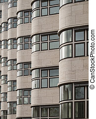 Shell-Haus - Side view of the facade of the shell house in...