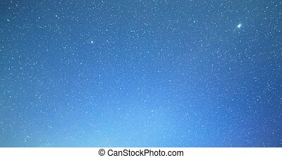 Time Lapse overnight. There are stars, then ascends the...