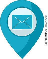 mail location icon - design of mail location icon